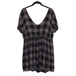 TORRID plaid stretch waist babydoll tunic sz 1x
